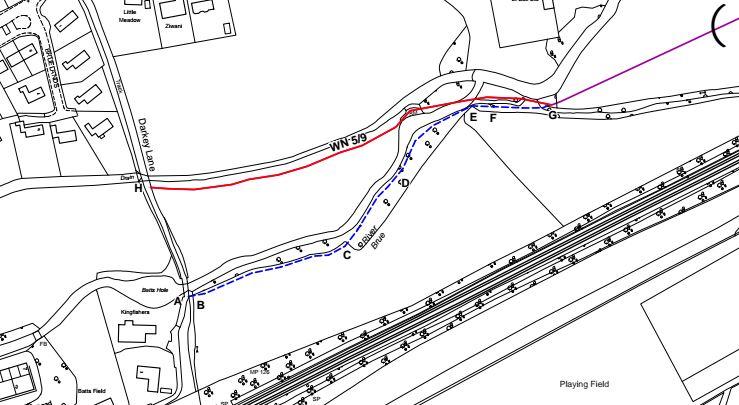 Solution proposed to Darkey Lane footpath